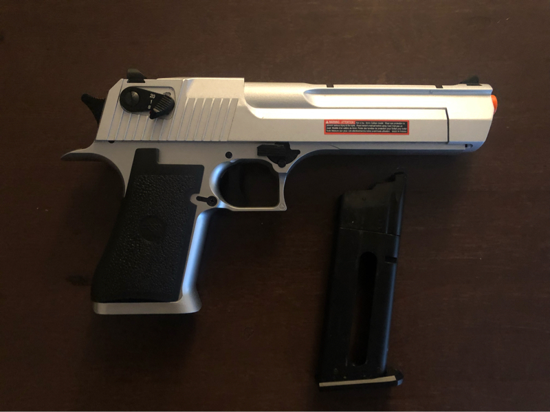 Sold Magnum Research Licensed Semi Full Auto Metal Desert Eagle Co2 Gas Blowback Hopup Airsoft